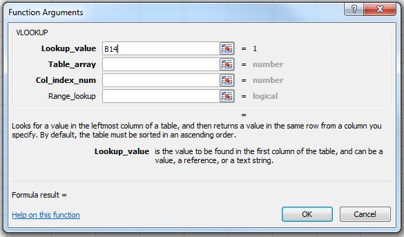 VLOOKUP Parameters