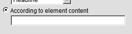 sort according to element content option