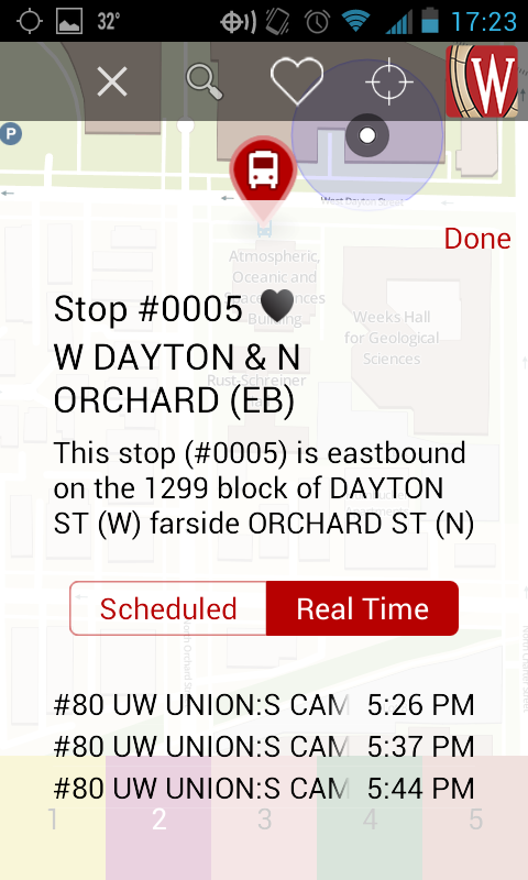 You can also browse the bus schedule by route as shown