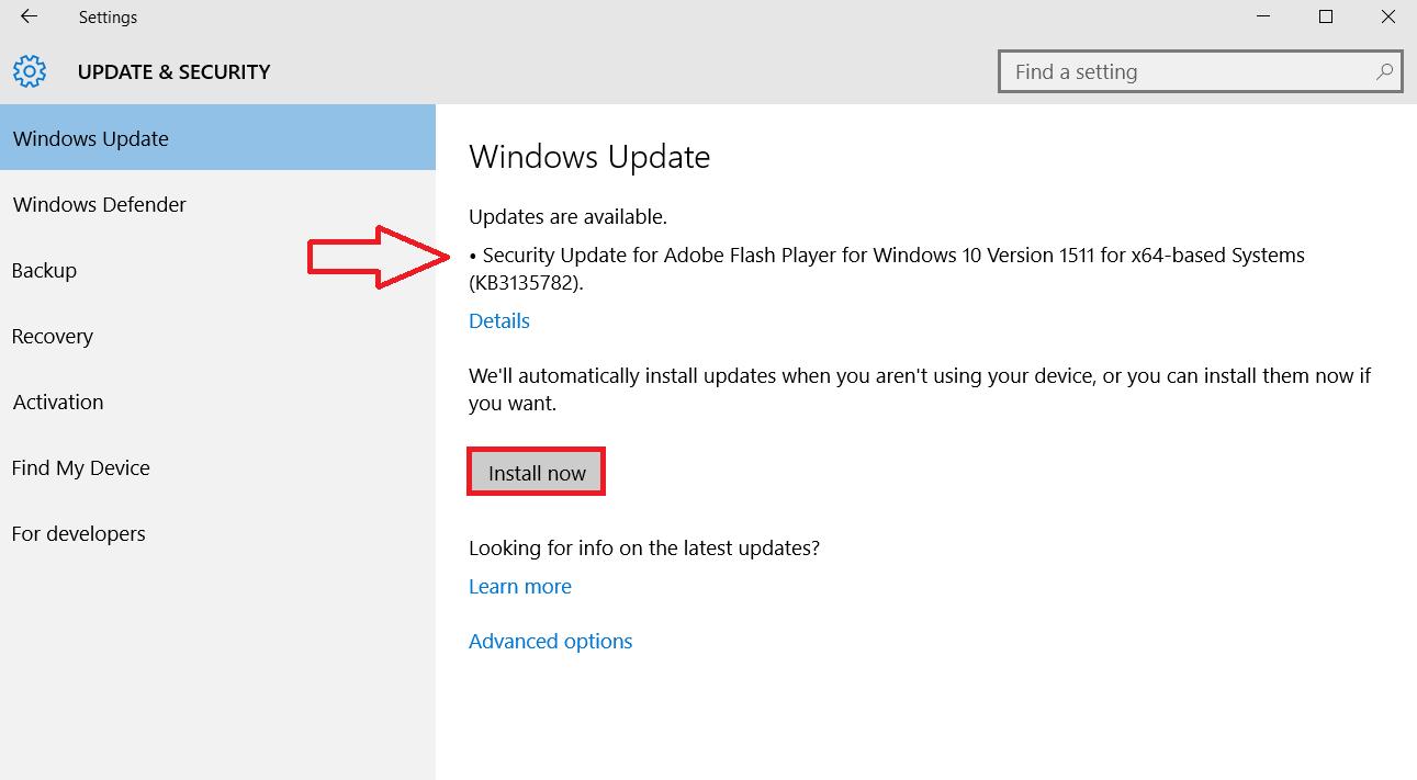 windows 10 install updates