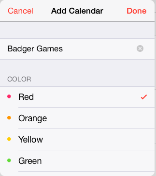 add calendar creation screen