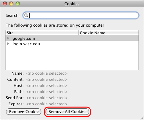Press Remove all cookies.