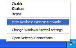 XP Wireless Network Connection icon