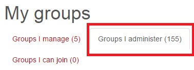 "Image of ""Groups I administer"" button"