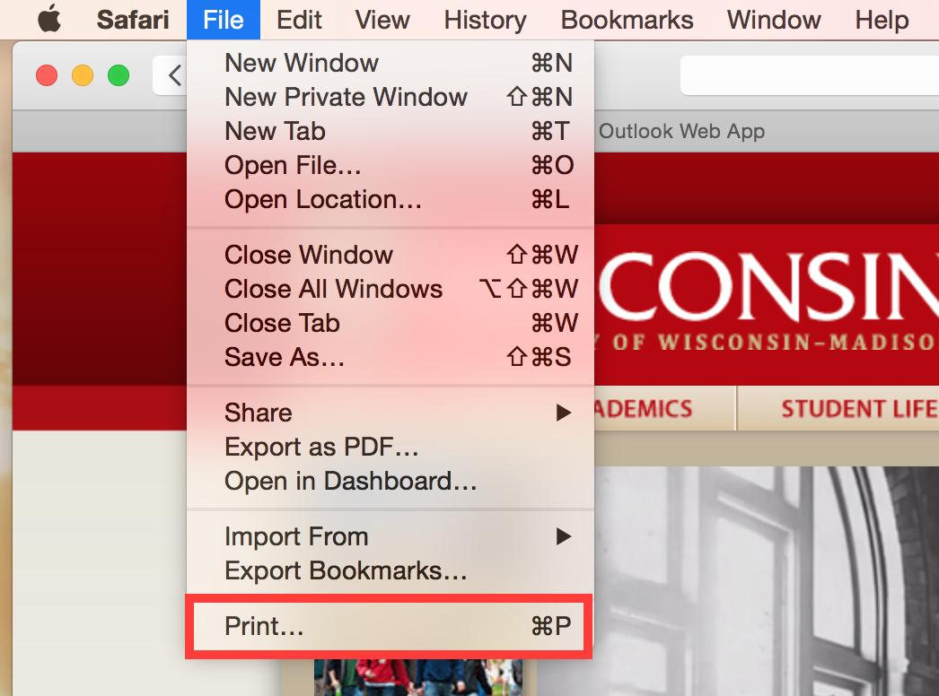 Creating a PDF (Mac OS 10 9 10 10)
