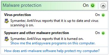 Windows malware protection