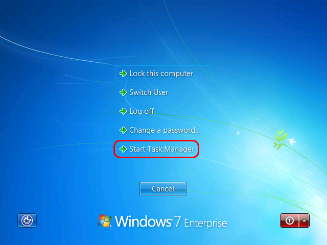 Windows 7 Ctrl Alt Del