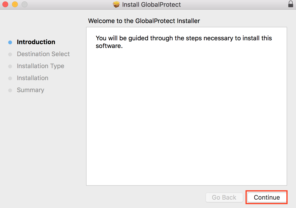 Installing GlobalProtect