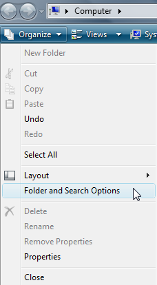 Organize drop-down menu