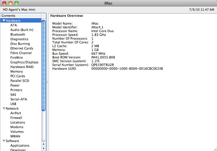 Mac System Info
