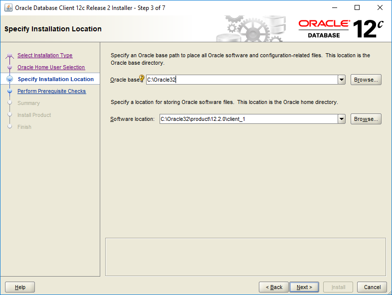 Downloading and Installing Oracle 12c Client