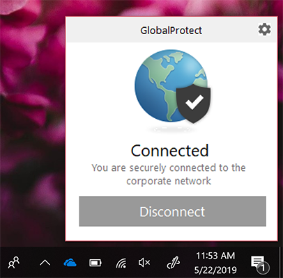 If prior steps were completed correctly, the vpn should be connected.