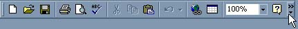 This button will appear with two right-facing arrows to indicate the toolbar can be expanded.