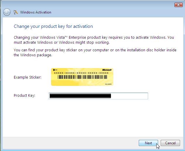 windows vista enterprise product key 32 bit