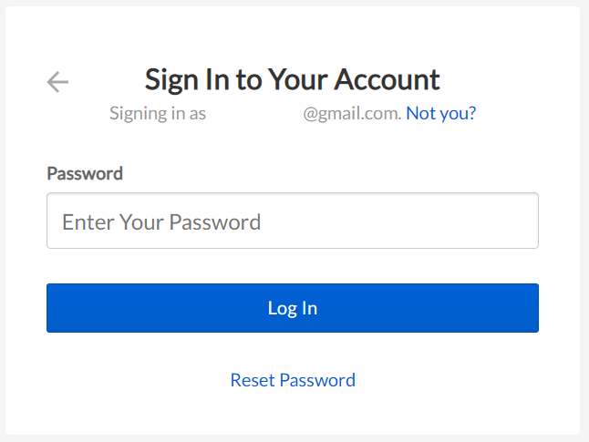 Sign in page for Box that requests the user's password