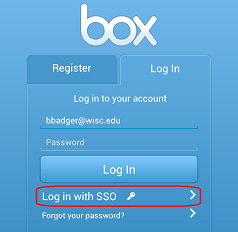 Log in with SSO