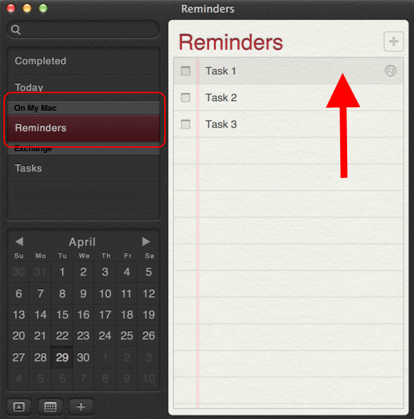 select the desired reminders/tasks to export