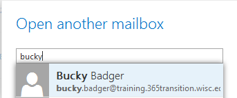 open mailbox search results