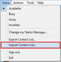 Import Contact List