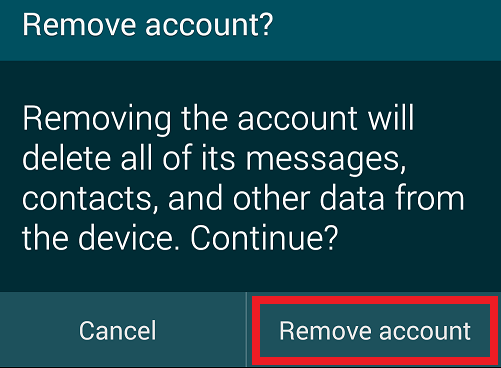 remove account 2