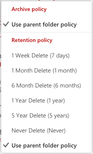 retention options