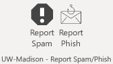 report spam/phish buttons