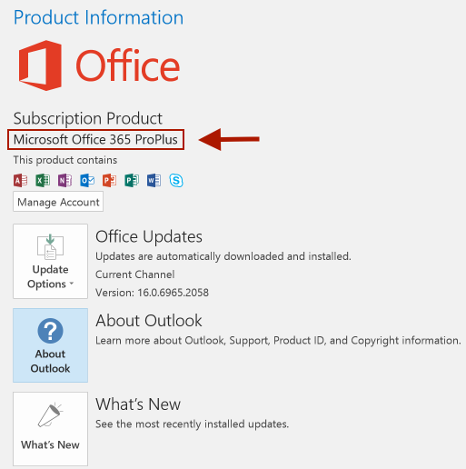 Office Product Information