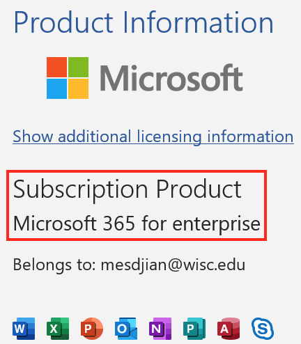 Microsoft 365 product information