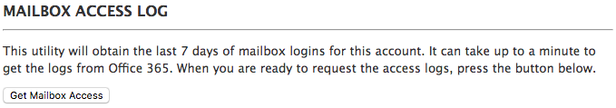 mailbox access log page