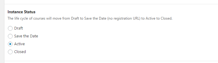 Instance status screenshot