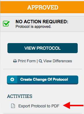 Export Protocol to PDF allows you to create a PDF of your protocol.