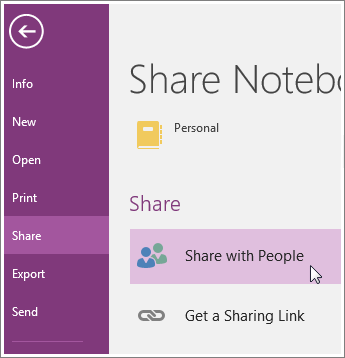 Share notebook