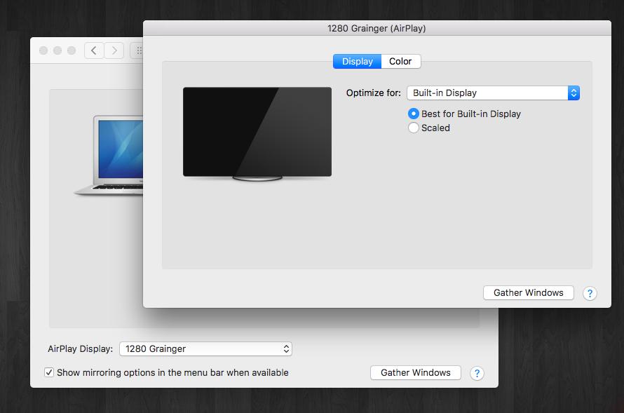 Apple: Resolution setting