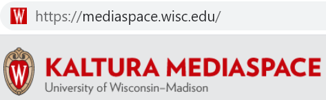"A screenshot of the ""Kaltura MediaSpace"" logo from UW-Madison's MediaSpace instance at https://mediaspace.wisc.edu/"