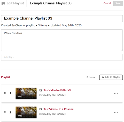 "A screenshot showing the ""Edit Playlist"" window."