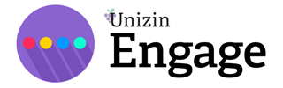 "A picture of the Unizin Engage logo - a purple circle with a red, yellow, blue, and cyan circle inside with the worlds ""Unizin Engage"" next to it."