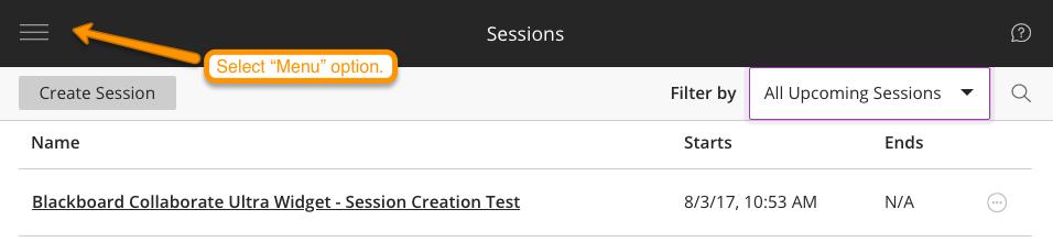 Blackboard Collaborate Ultra Session Screenshot