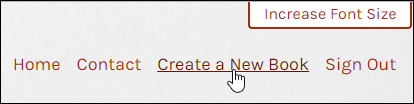 "Screenshot showing the upper right corner Pressbooks menu with the cursor over ""Create a New Book""."