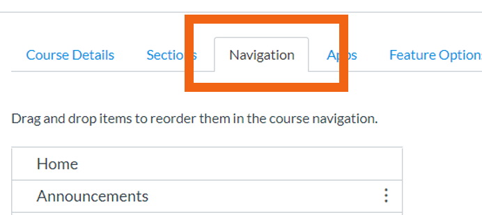 Settings Navigation