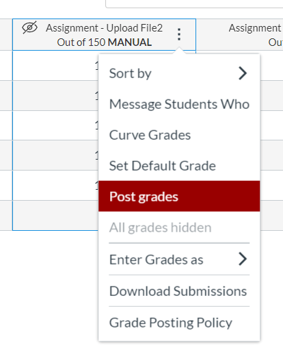 Post Grades