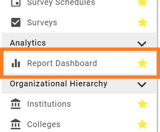 Select Report Dashboard