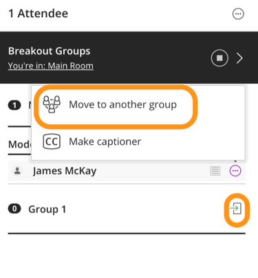 How to move a participant to a new group