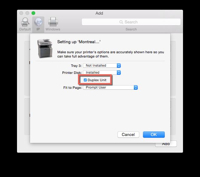 Printer Options