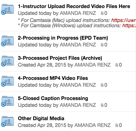 Recorded Video Production Folder Structure