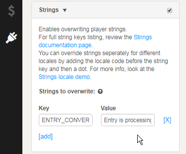 strings menu