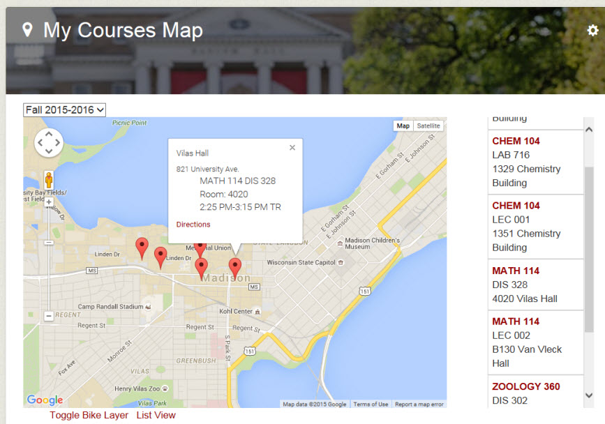 My Courses Map