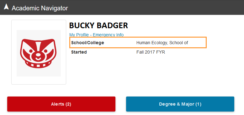 Bucky Badger's college