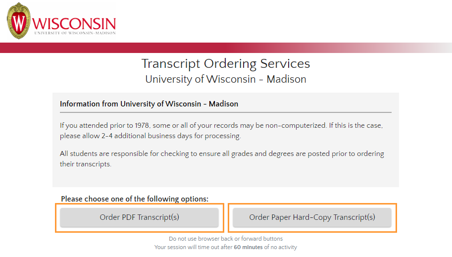Select transcript type