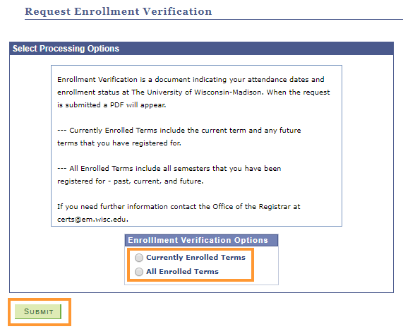 Select verification options