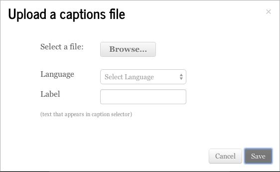 Upload Captions